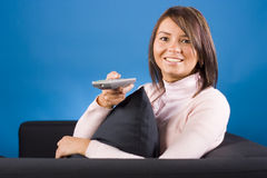 Watching TV stock photography