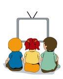 Watching TV Stock Photos