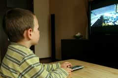 Watching TV Royalty Free Stock Photography