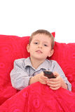 Watching TV Stock Image