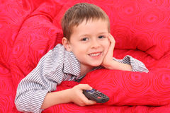 Watching TV Royalty Free Stock Images
