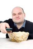 Watching tv Royalty Free Stock Photo