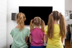 Watching TV royalty free stock image