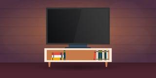 Watching Tv. Vector flat illustration. Stock Photography
