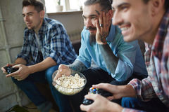 Watching video game Royalty Free Stock Photography