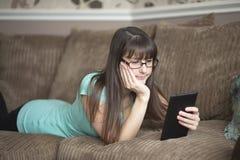 Watching videos online Stock Image