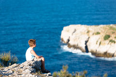 Watching the waves of Black Sea Stock Image