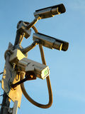 ...is watching you!. Video cameras and an infrared illuminator are during operation Royalty Free Stock Photos