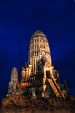 watchiwattanaram Pagoda at twilight Stock Image