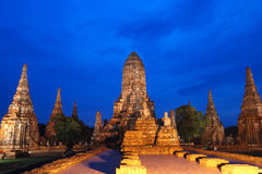 watchiwattanaram Tempel in Ayutthaya Thailand stockbild