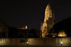 Watchiwattanaram tempel i Ayutthaya Thailand Fotografering för Bildbyråer