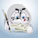 Watchleendet började workingdag för att underteckna förlagor stock illustrationer