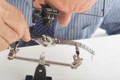 Watchmaker Close-up Stock Photo