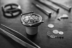 Watchmaker's workshop, watch repair Royalty Free Stock Images