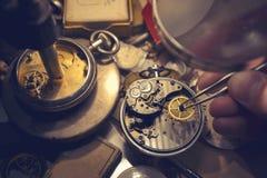 Watchmakers Craftmanship Stock Photography