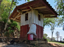 Watchman`s hut. At the Wampo Viaduct, Death Railway, Thailand Royalty Free Stock Photo