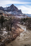 Watchman. The Watchman in Zion national park in southern Utah Royalty Free Stock Photos