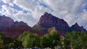 The Watchman at Zion National Park. Views of the Watchman at Zion National Park in Utah Stock Images