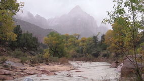 The Watchman Zion National Park stock footage