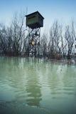 Watchpost militar velho da beira Fotos de Stock