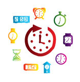 Watchs design. Over white background vector illustration royalty free illustration