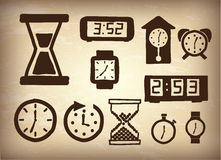 Watchs icons Stock Photography