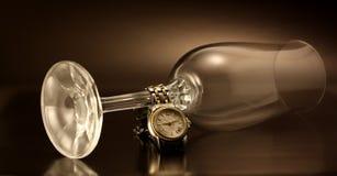 Watchs y vidrio Foto de archivo libre de regalías