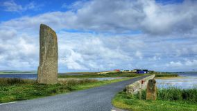 The Watchstone is a large Standing Stone in  Orkney, Scotland stock video