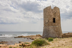 Watchtower in front of the sea Stock Photography