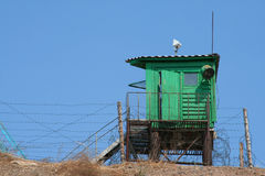 Watchtower. On a slope of mountain against the dark blue sky Royalty Free Stock Photos