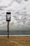 Watchtower. On the beach for use by emergency stock photos