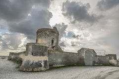 Watchtower. Is a coastal watchtower abandoned stock photography