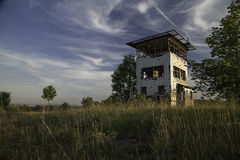 Watchtower. An abandoned watchtower at the former inner-border between former East and West Germany stock images