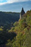 A watchtower above the canyon of the Smotrych River in Kamianets-Podilskyi Royalty Free Stock Image