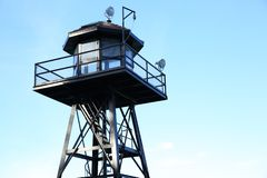 Watchtower in Alcetraz-eiland stock foto