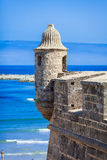 Watchtower. Ancient watchtower near Atlantic ocean Stock Photos