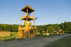 Watchtower on a apple farm Stock Images