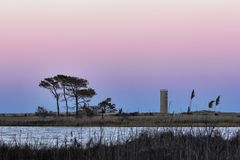 Free Watchtower At Sunset In Rehoboth Beach Royalty Free Stock Images - 103557609