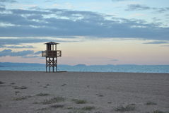 Watchtower on beach Royalty Free Stock Image