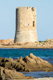 Watchtower on the beach Royalty Free Stock Images