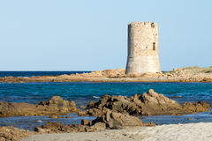 Watchtower on the beach Royalty Free Stock Photography