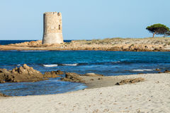 Watchtower on the beach Royalty Free Stock Photo