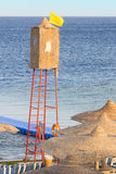 Watchtower on a beach Royalty Free Stock Photography