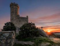 Watchtower bij zonsopgang royalty-vrije stock afbeeldingen