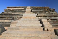 Watchtower at the Cacred Center of Vijayanagara at Hampi, a city located in Karnataka Stock Photos