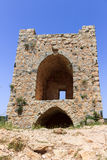 Watchtower of the castle Monfort. In northern Israel Royalty Free Stock Image