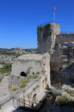 Watchtower, Château des Baux, France. The village Les Baux-de-Provence seen from Château des Baux, a fortified castle built during the 10th century. Les royalty free stock photography