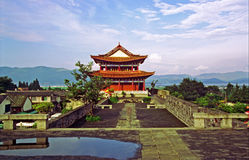 Watchtower and city wall in Dali, China Royalty Free Stock Image