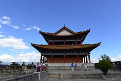 Watchtower and city wall in Dali, China Royalty Free Stock Photos
