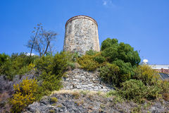 Watchtower on Costa del Sol in Spain Stock Images
